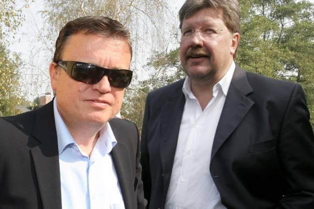 Boško Šrot in Igor Bavčar, ki sta bila vpletene v menedžerske prevzeme Pivovarne Laško in koprskega Istrabenza.