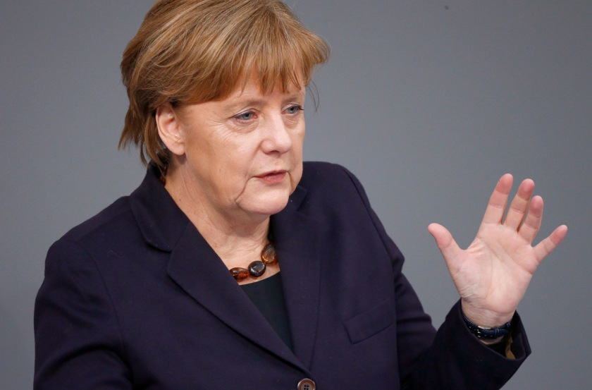 German Chancellor Merkel addresses Bundestag in Berlin