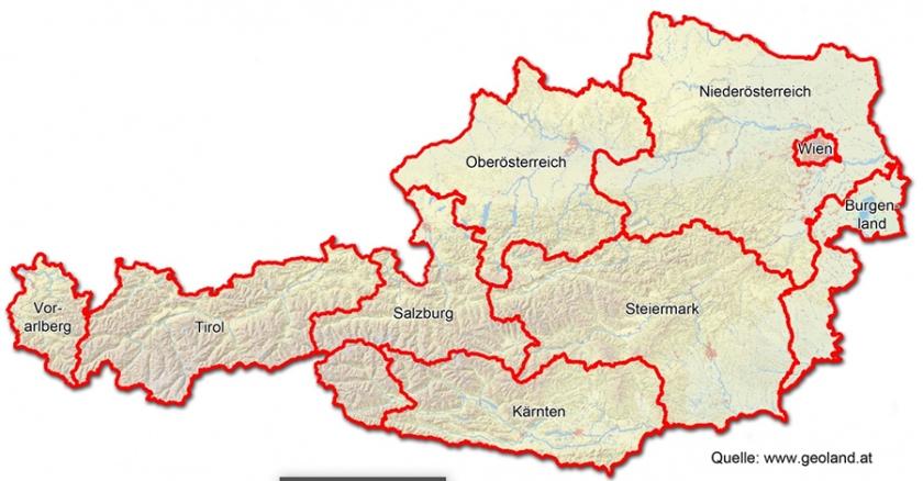 Avstrija po deželah
