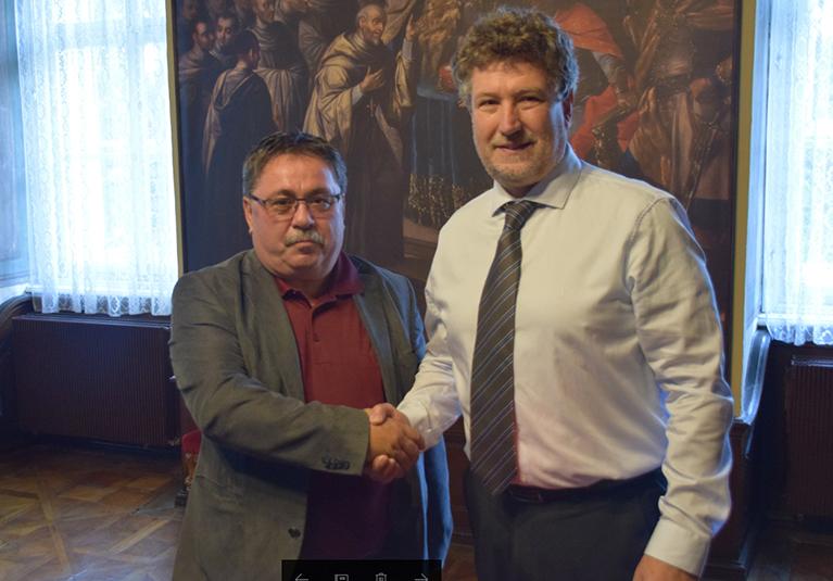 Generalni konzul Jesij in župan Monoštra Gabor