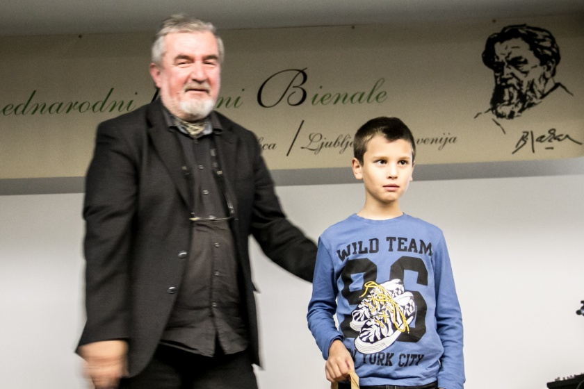 1. triada priznanje, učenec Maj Hrobat - OŠ Col./Foto:Janez Platiše