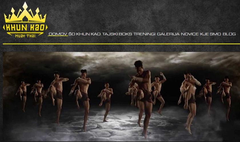 Predstavitvena spletna stran Tajski boks