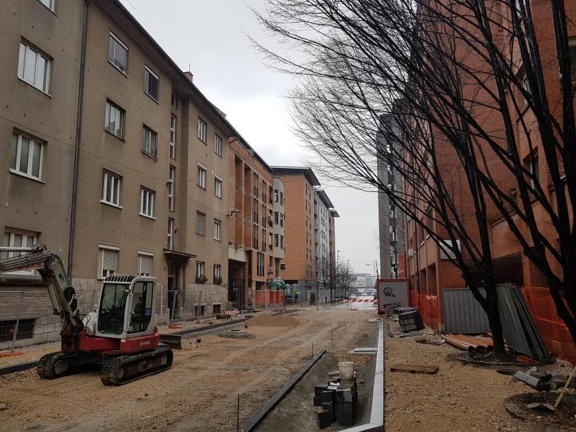 Ljubljana - Kotnikova ulica, ki se prenavlja