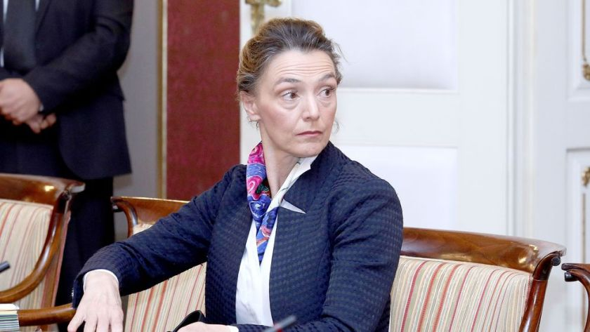 Hrvaška zunanja ministrica Pejcinović Burić