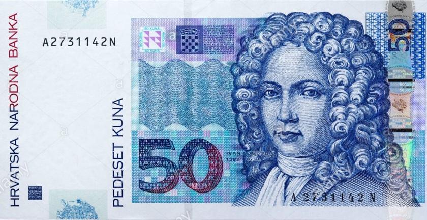 hrvaški bankovec za 50 kun