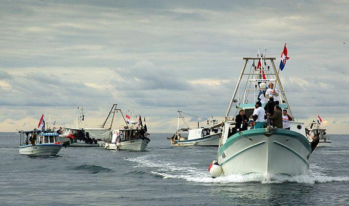 hrvaški ribiški čolni