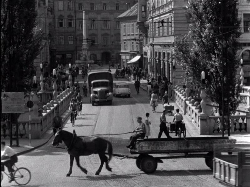 Ljubljana v filmu Matjaža Klopčiča Na sončni strani ceste (1959)_2