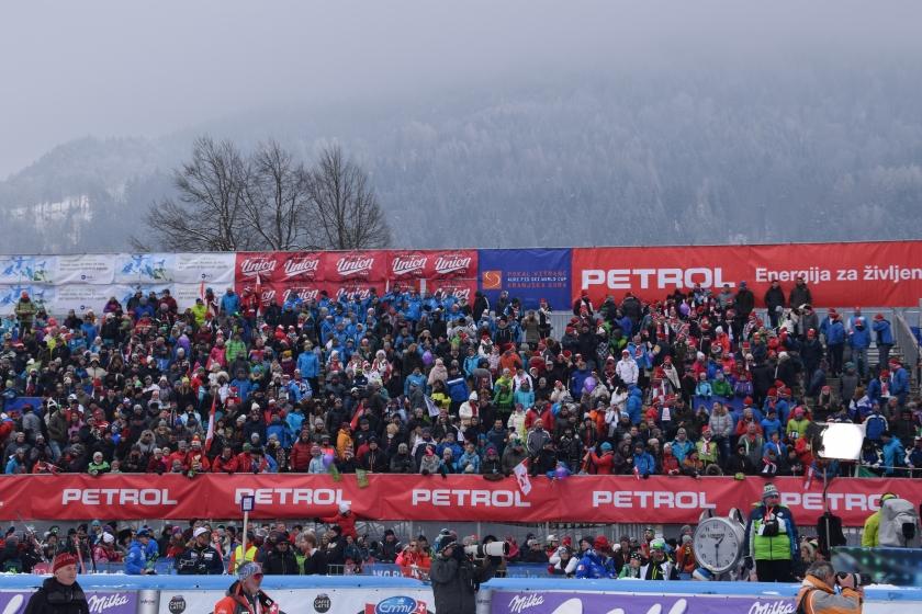Gledalci na 57. Pokalu Vitranc v Kranjski Gori, 3. 3. 2018