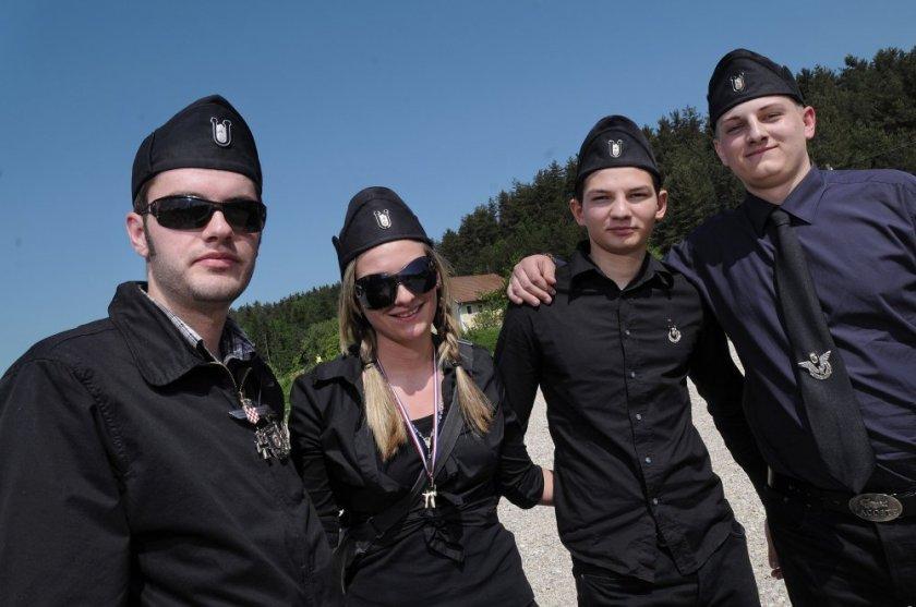 Hrvaški udeleženci shoda v Bleiburga