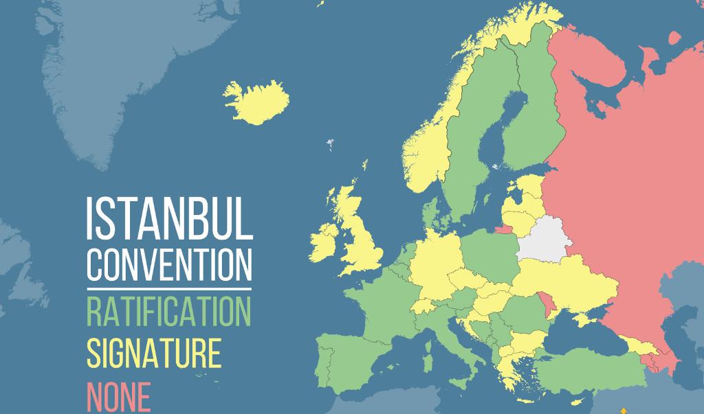 Države, ki so ratificirale Istabulsko konvencijo