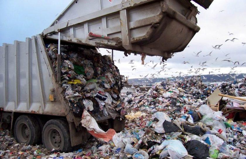 zbiranje odpadkov s nikakršno predelavo kar v naravnem okolju