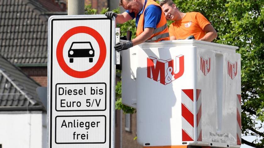 Hamburg oznaka o prepovedi vožjne avtomobilov na dizel