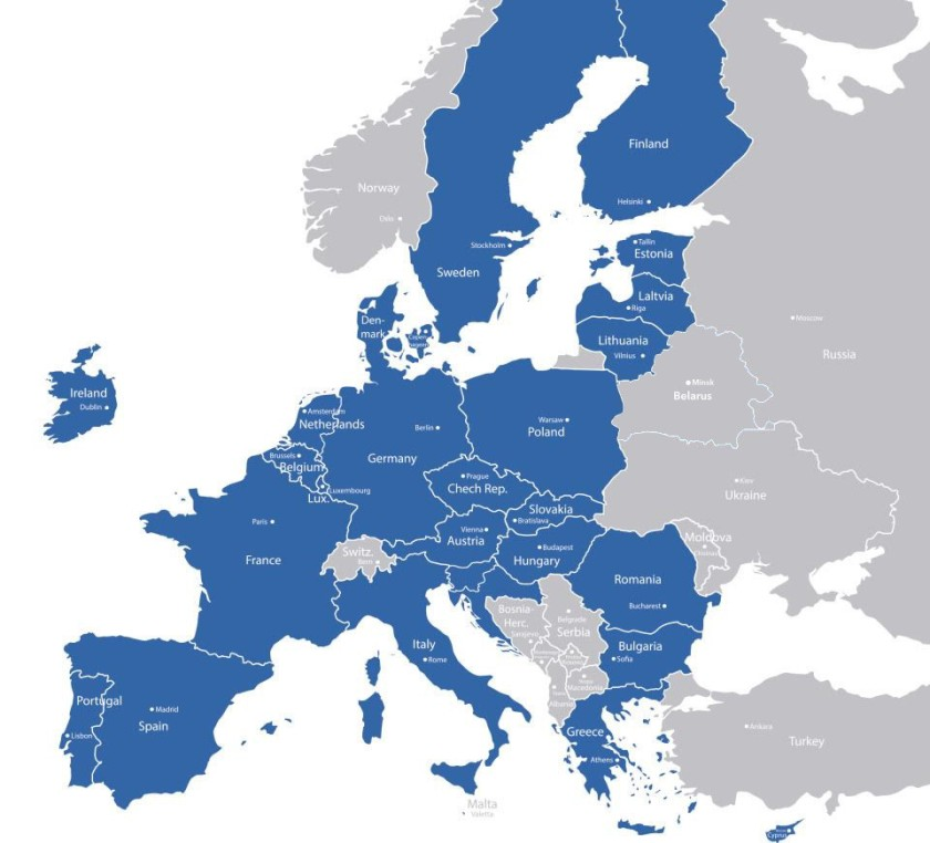 Zemljevid EU