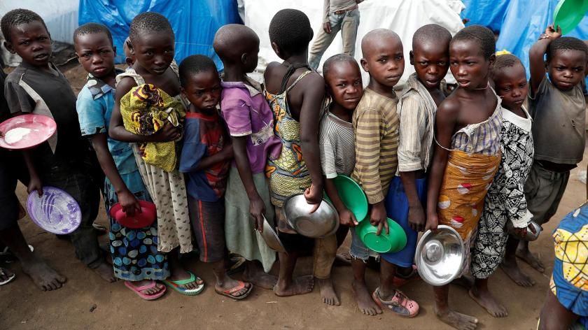 Lačni afriški otroci