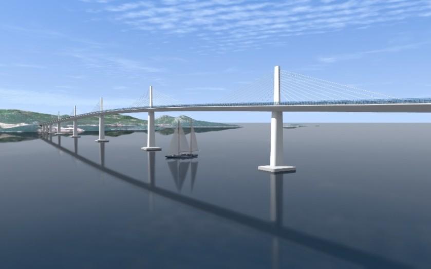 most na hrvaški otok Pelješac