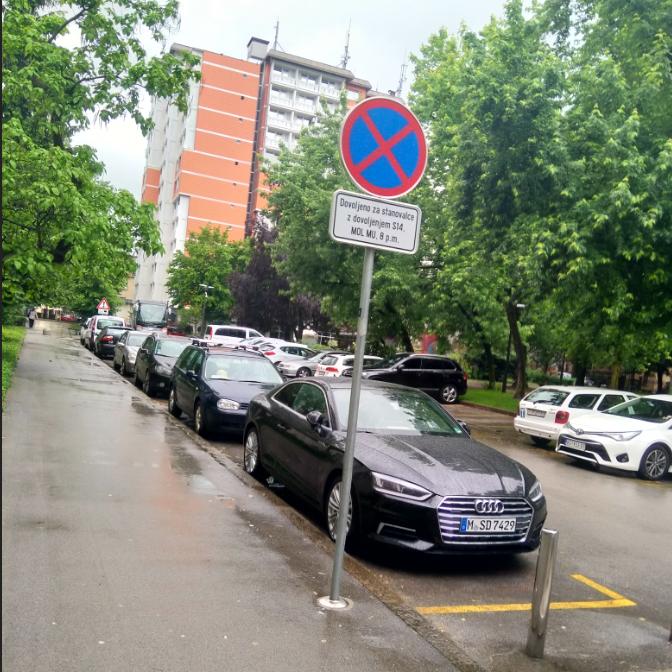 Napačno parkiranje Tabor