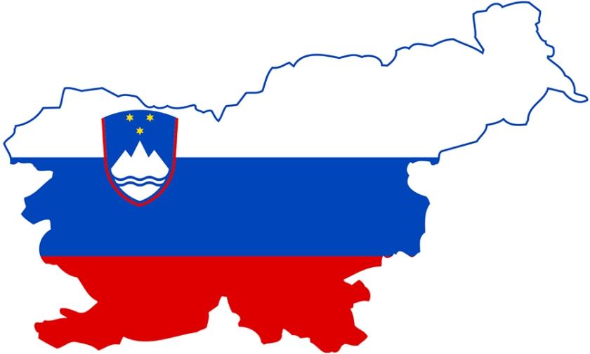 Slovenija s podlago zastave