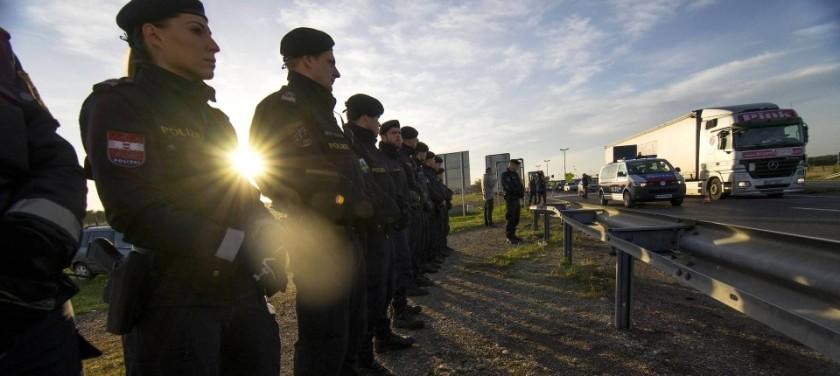 Test avstrijske policije za zavarovanje na svoji meji pri Šentilju