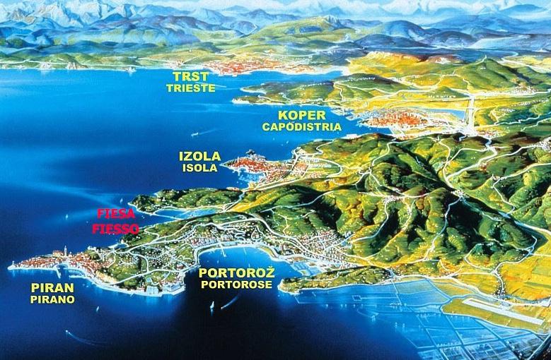 Pogled na celotno slovensko obalo