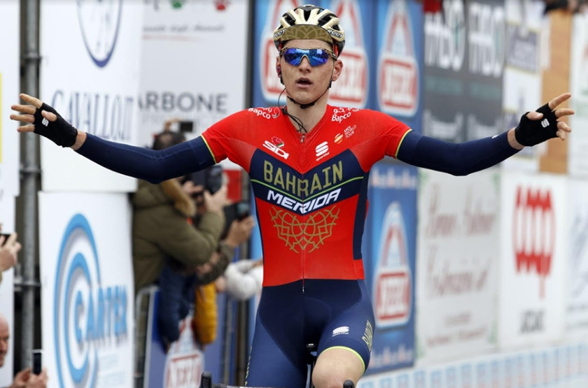 Matej Mohorič, član kolesarske ekipe Bahrain Meride