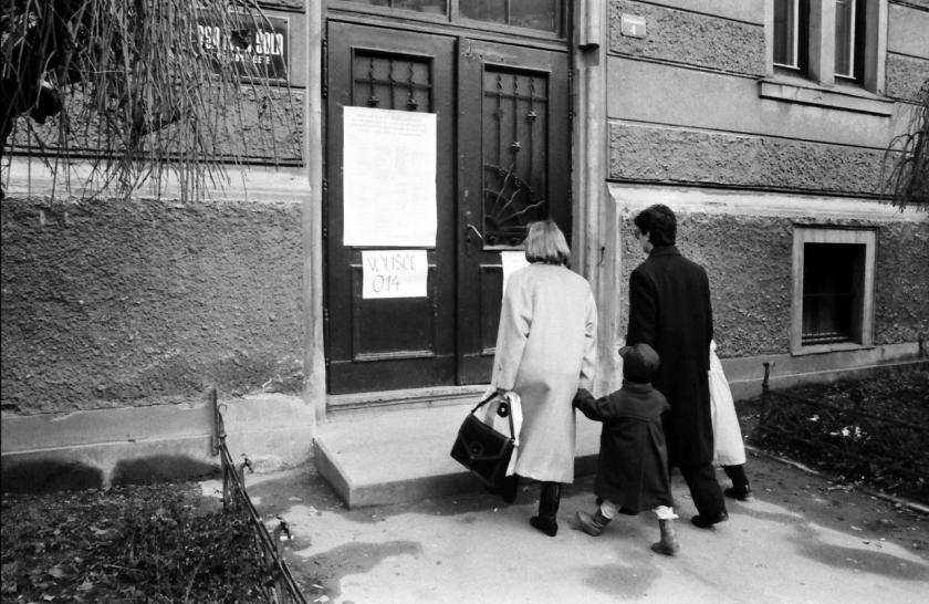 Slovenija plebiscit 23. decembra 1990, arhivska fotografija