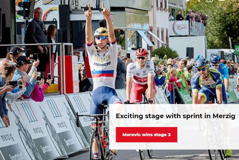 Sloveski kolesar Matej Mohorič ki so ga Nemci poimenovali MOROVIC - SRAMOTA!