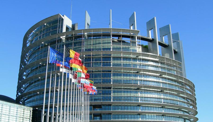 Evropski paralamen stavba
