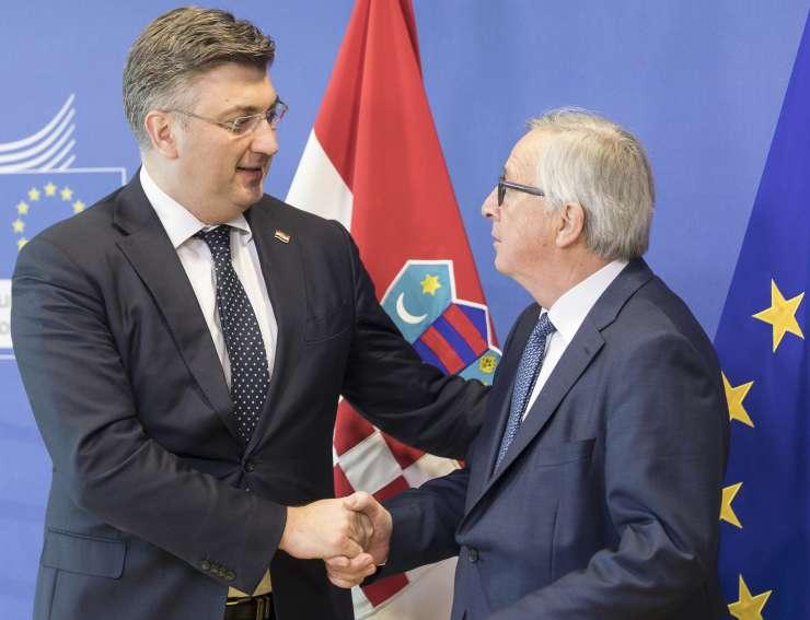 Velika prijatelja - Plenković in Juncker