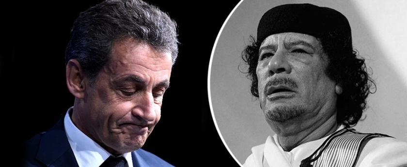 Sarkozy in Gadafi