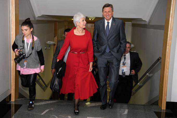 Hrvaška državljanka Jadranka Kosor in predsednik Republike Slovenije/Foto: Nebojša Tejić