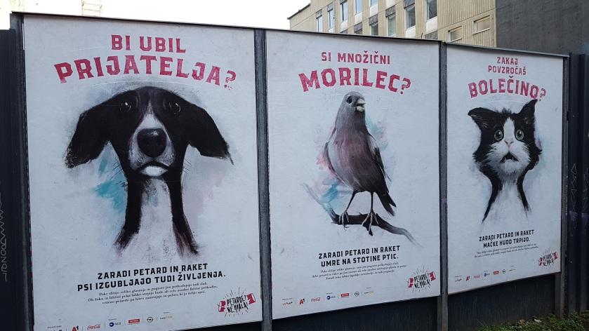 Plakati proti uporabi pirotehnike