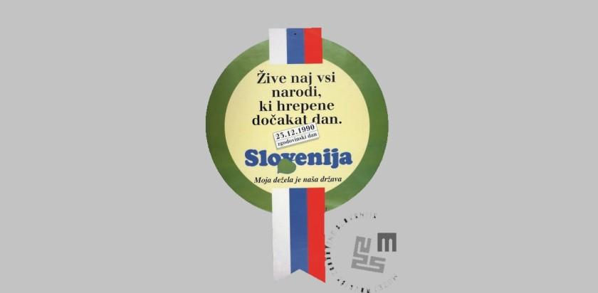 Znak v čast ob praznika ob Dnevu samostojnosti in enotnosti Slovenije