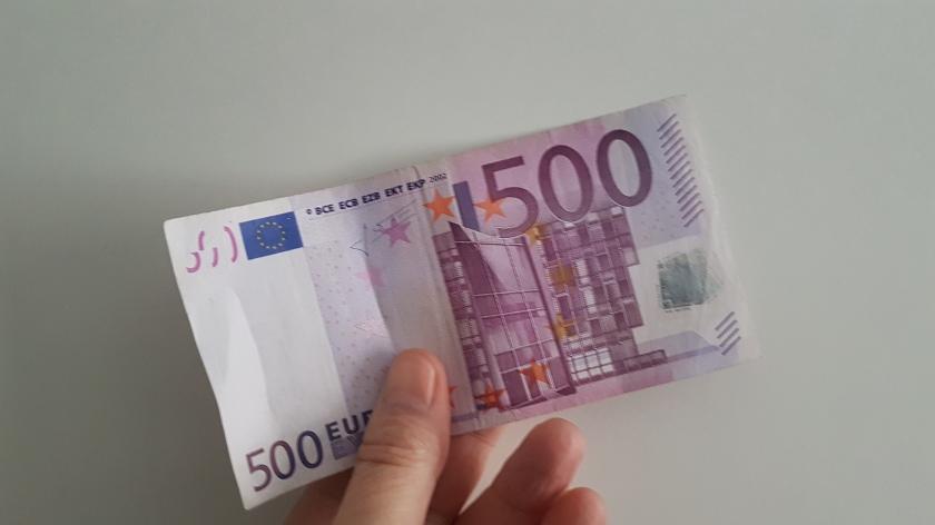 Evro bankovec za 500 evrov