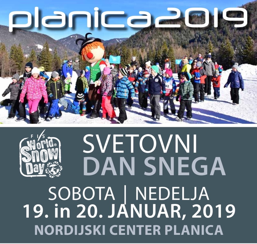 Povabilo na Svetovni dan snega 2019 - Planica 2019