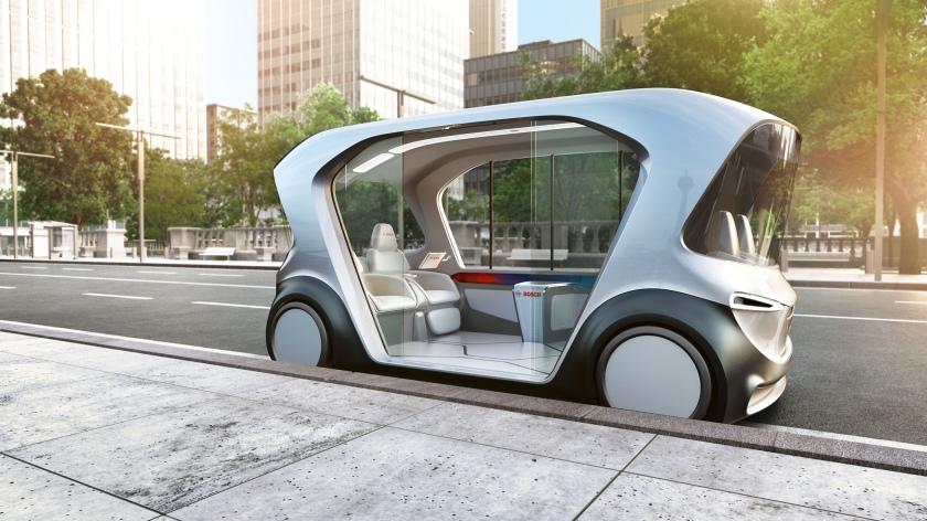 Prvi na svetu: Bosch debitira s konceptom električnega prevoza brez voznika z integriranimi storitvami