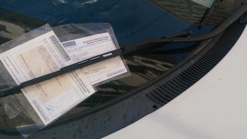 Dunaj - kazen za napačno parkiranje