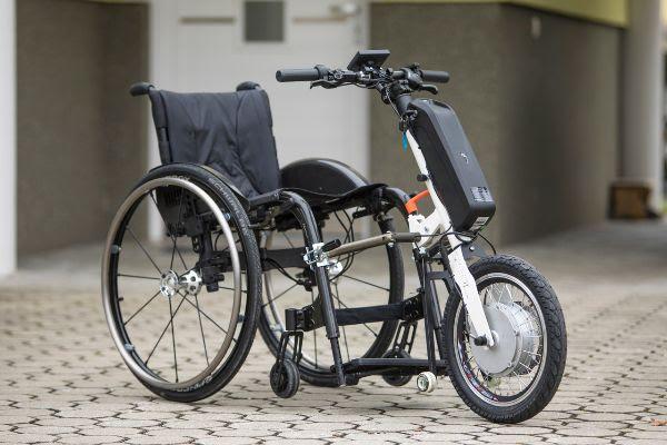 Električni priklop SPEED3X za invalidski voziček/Foto vir: Turizem Ljubljana