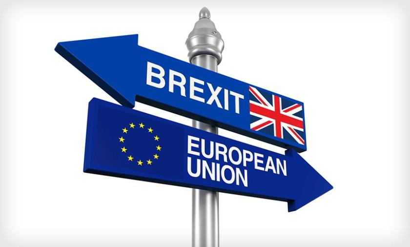 Vizualna predstavitev odhoda  (brexit) V. Britanije iz EU