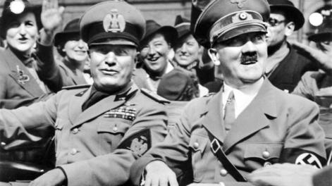 Hitler in Mussolini