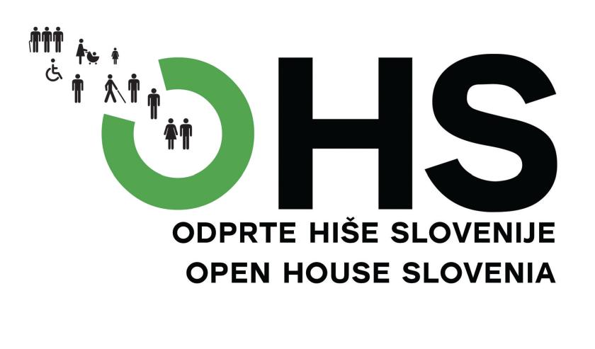 Uradni logo OHS  - Odprta hiša Slovenije