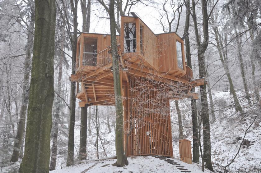Drevesna opazovalnica; Atelje Ostan Pavlin, 2015; foto: Aleksander S. Ostan