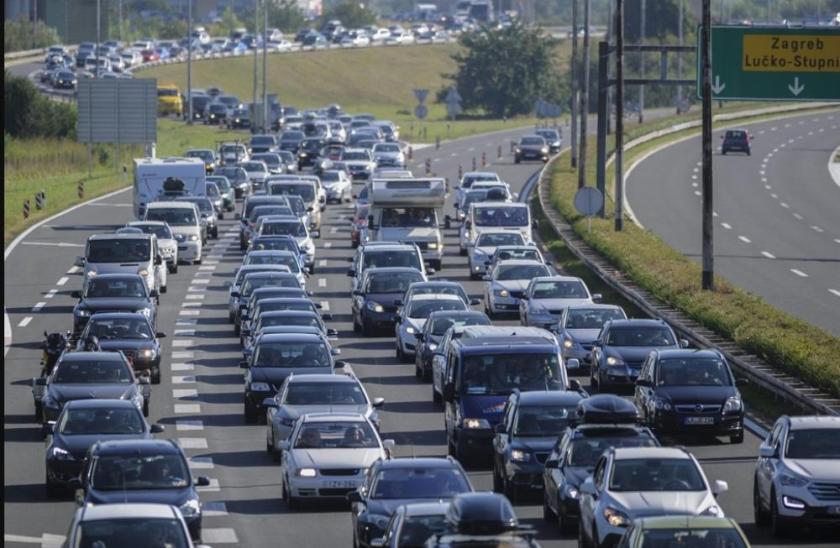 hrvaške avtoceste gneča tujih turistov
