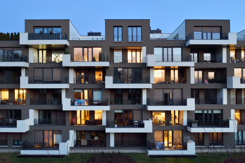 Stanovanjska soseska Zeleni gaj na Brdu: Multi Plan arhitekti, 2014; foto: Miran Kambič