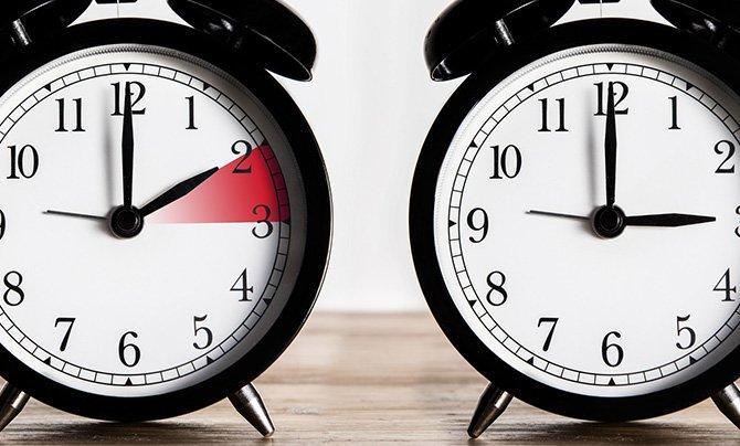 Zamenjava časa  - premik iz druge ure na tretjo uro,  zimsko poletni čas