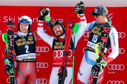 Lanski zmagovalci slaloma: 1. Marcel HIRSCHER (Avt), 2. Henrik KRISTOFFERSEN (Nor), 3. Ramon ZENHAEUSERN (Švi)…13. Stefan HADALIN (Slo)