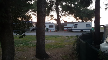 Pogled na območje notranjosti kampa Jadranka Izola