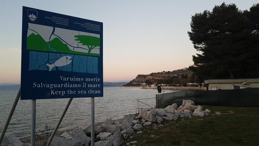 Področje kampa Jadranka Izola  - NE-dospot na obalo