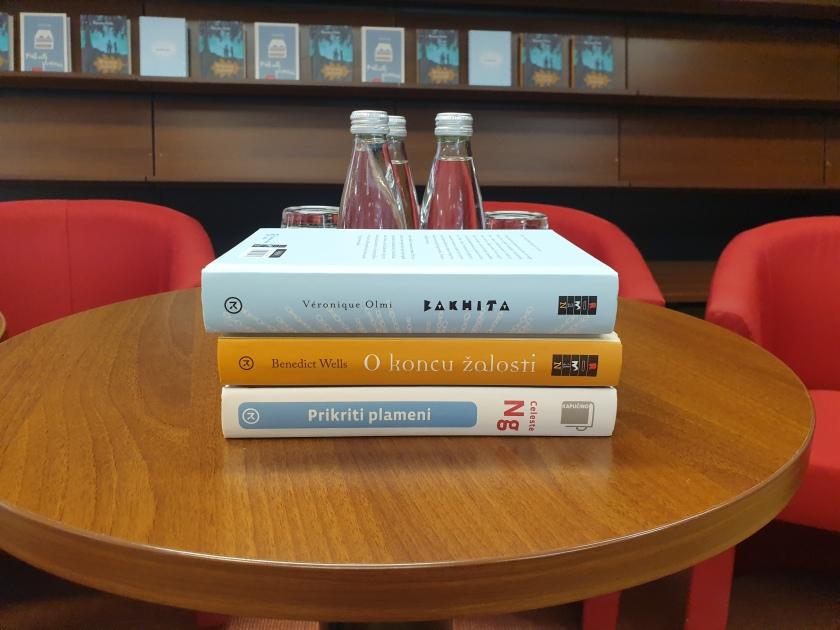 Založba Mladinska knjiga je predstavila tri knjige in sicer: Bakhita, O koncu žalosti in Prikriti plameni.