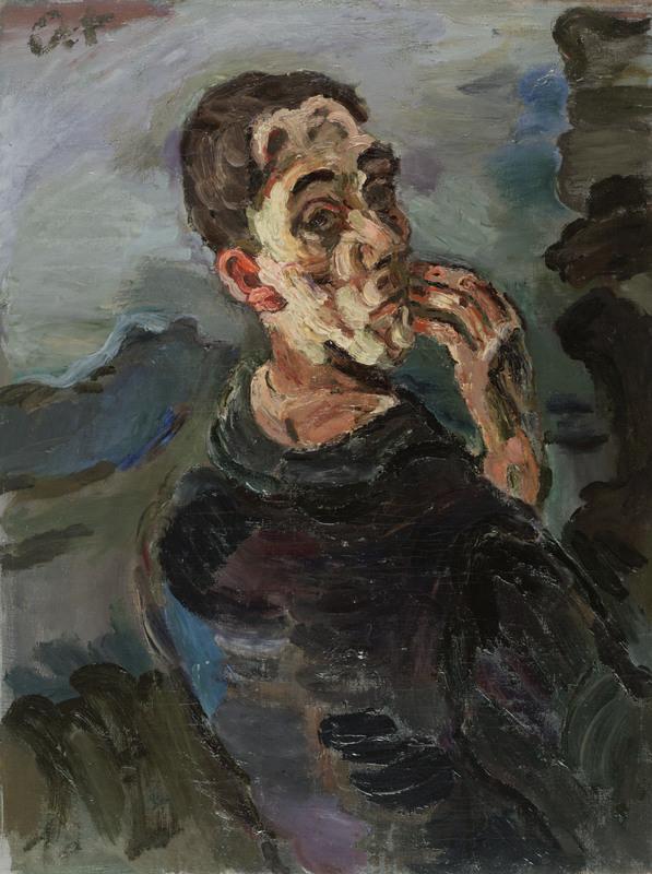 Oskar Kokoschka, Selbstbildnis, eine Hand ans Gesicht gelegt, 1918/19, Leopold Museum, Wien, Inv. 623 © Leopold Museum, Wien / Fondation Oskar Kokoschka/VBK, Wien 2013/press