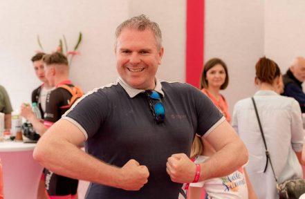 Radijski voditelj Miha Deželak je s svojo dobro voljo okužil vse prisotne.